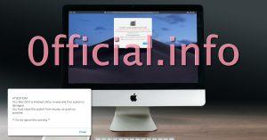 0fficial.info Mac Virus Warnings