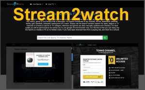 Stream2watch Redirects and Ads