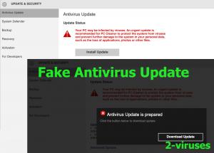 Fake Antivirus Update