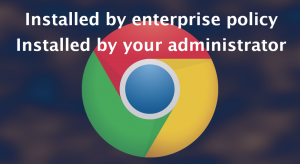 """""""Installed by enterprise policy"""" (fake)"""