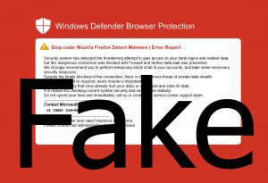 Fake Windows Defender Browser Protection