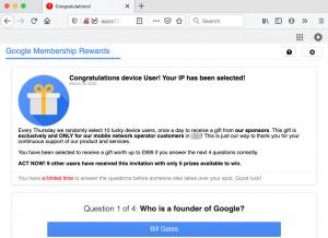"""Congratulations device user!"""