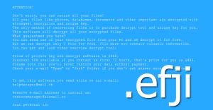 Efji File-Locking Malware
