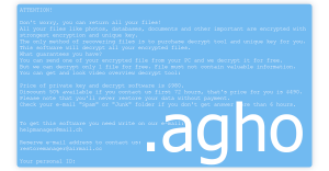 Agho Ransomware