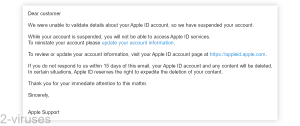 """""""Account Suspended"""" Email Scam"""