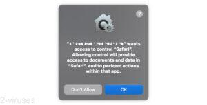 """Pop-ups - App """"Wants Access to Control Safari"""""""