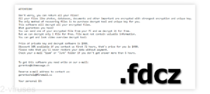 Fdcz Ransomware