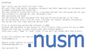 Nusm Ransomware