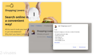 Shopping Lovers Ads and Redirects