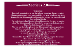 Zeoticus Ransomware