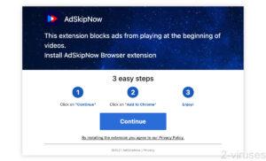 AdSkipNow Ad Spam