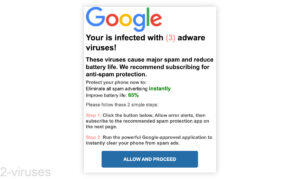 """Fake Alerts - """"Infected With Adware Viruses"""""""