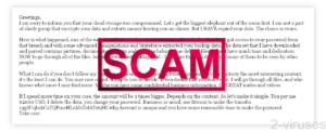 """Scam Emails """"Your Cloud Storage Was Compromised"""""""