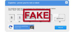 Fake Keyboard Captcha Downloads a Trojan